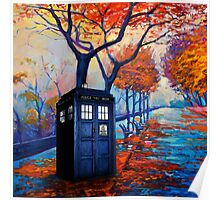 Tardis Autumn Alley Poster