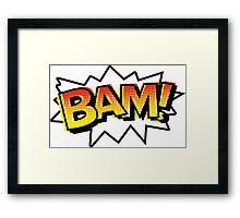 BAM! Comic Onomatopoeia Framed Print