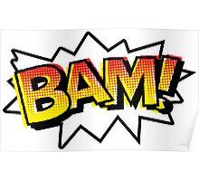 BAM! Comic Onomatopoeia Poster