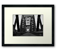 Brookshire Rail Road Bridge BW II Framed Print