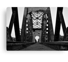Brookshire Rail Road Bridge BW II Canvas Print