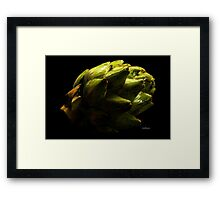 Artichoke Shadows Framed Print