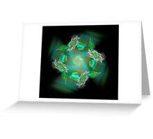 Green Satin Pinwheel Greeting Card
