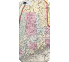Vintage Map of Maine (1864) iPhone Case/Skin