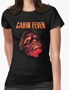 Cabin Fever Skull Face Womens Fitted T-Shirt