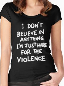 Riot for violence Women's Fitted Scoop T-Shirt