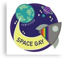Certified Space Gay Canvas Print