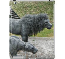 Lion Sculptures by the Tower iPad Case/Skin