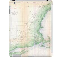 Vintage Coastal Map of New England (1864) iPad Case/Skin