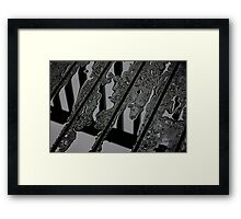 Puddles on the Deck Framed Print
