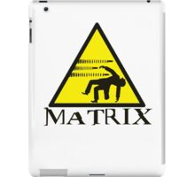 Warning Matrix bullet hazard iPad Case/Skin