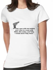 The Office, If I had a gun... Womens Fitted T-Shirt