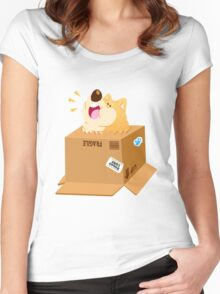 Box Shiba Women's Fitted Scoop T-Shirt