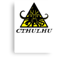 Warning Cthulhu hazard Canvas Print