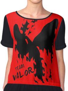 Team Valor Black Chiffon Top