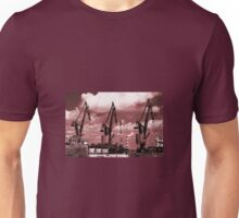Gdansk Cranes in red  Unisex T-Shirt