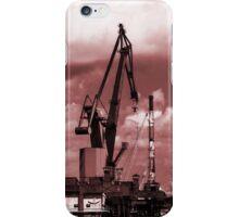 Gdansk Cranes in red  iPhone Case/Skin