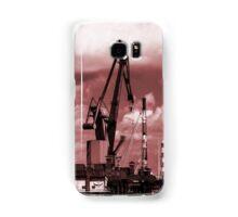 Gdansk Cranes in red  Samsung Galaxy Case/Skin