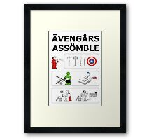 Superheroes Assembling - Colour Framed Print