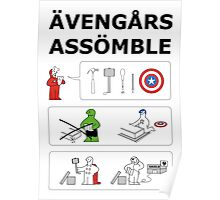 Superheroes Assembling - Colour Poster
