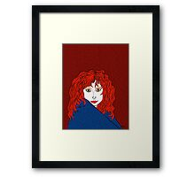 Redheads Rock, White, and Blue Framed Print