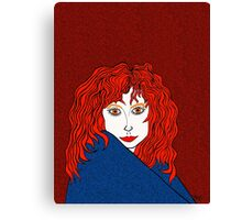 Redheads Rock, White, and Blue Canvas Print