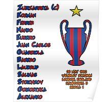 Barcelona 1992 European Cup Final Winners Poster