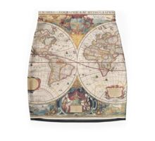 Old Map Mini Skirt