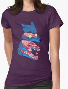 Dissected Wolf Womens Fitted T-Shirt