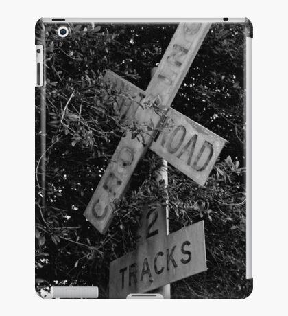 Railroad Crossing BW iPad Case/Skin