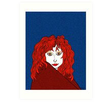 Blue, White, and Redheads Rock Art Print