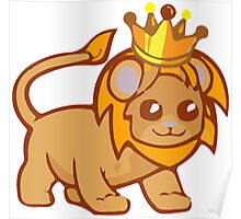 cute baby lion vektor Poster
