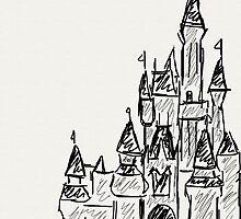 Disney Cinderella's castle by AriaMarie91