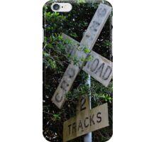 Railroad Crossing iPhone Case/Skin