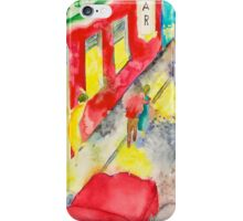 A nocturnal street-scene in front of a nightclub iPhone Case/Skin