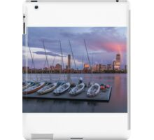 Back Bay sunset rainbow in Boston, Massachusetts. iPad Case/Skin
