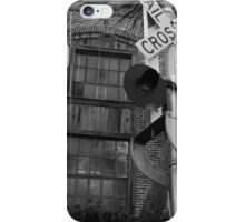 Railroad Crossing and Building iPhone Case/Skin
