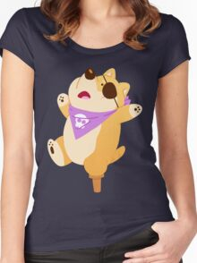 Pirate Shiba Women's Fitted Scoop T-Shirt