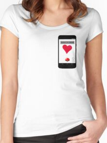 Pokeheart By The Artness Women's Fitted Scoop T-Shirt