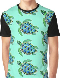 Psychedelic sea turtle in acrylic Graphic T-Shirt