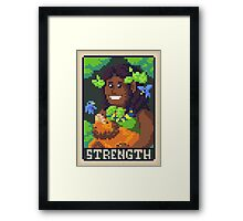 Strength Tarot - Derowen Framed Print