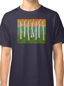 Cats - Forest - Birch Trees - Fall Classic T-Shirt