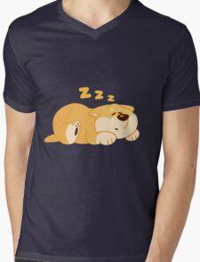 Sleeping Shiba Mens V-Neck T-Shirt