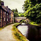 Canal Bridge Oil Painting Effect 01 by Glen Allen