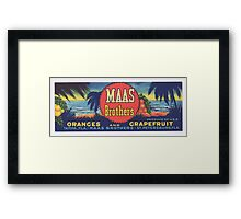 Mass Brothers logo Framed Print
