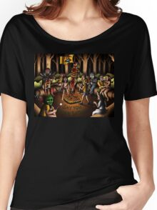 The Skin Crawling Creeps - Cropsy - Sleepaway Camp - Cannibal Holocaust - Halloween - Pet Sematary - Stephen King - Jason Voorhees - Camp Crystal Lake Women's Relaxed Fit T-Shirt