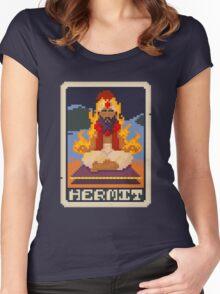 Hermit Tarot - Yasim Women's Fitted Scoop T-Shirt