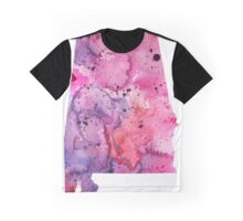 Watercolor Map of Alabama, USA in Pink and Purple - Giclee Print of My Own Watercolor Painting Graphic T-Shirt
