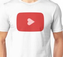 YouTube Heart Button Unisex T-Shirt