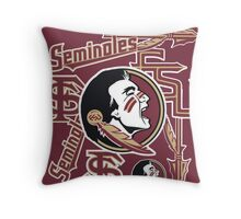 Florida State University collage Throw Pillow